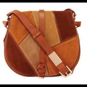 Foley + Corinna Leather Patchwork Saddle Bag